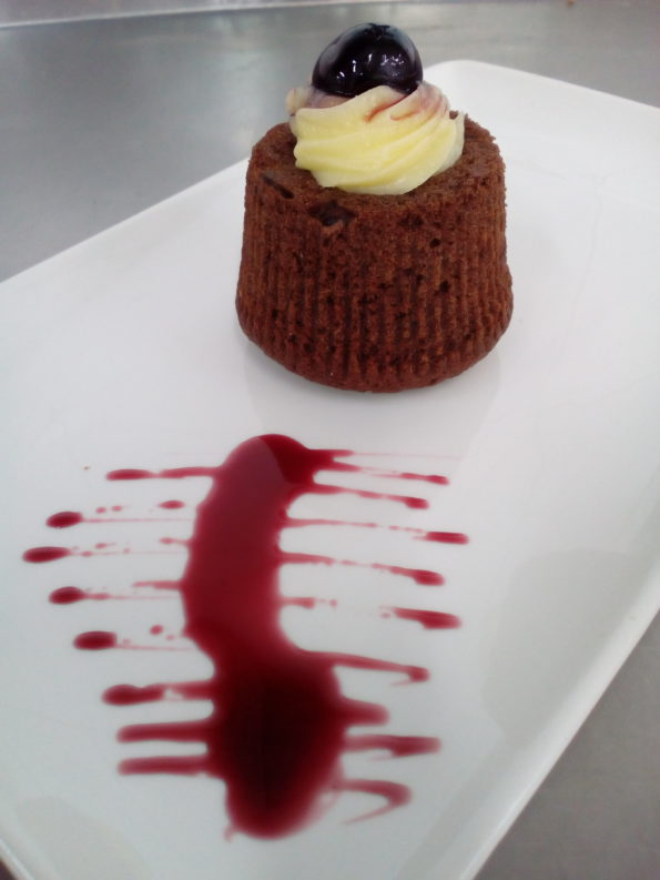 tortino cioccolato ed amarene