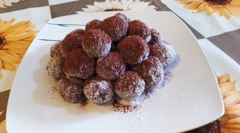 tartufini ricotta nutella e cocco