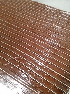Preparazione decorazioni in cioccolato